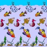 Картина рыб шаржа Стоковое Изображение
