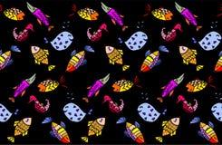 Картина рыб шаржа Стоковое Изображение RF