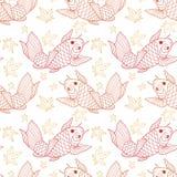Картина рыб Koi Стоковые Фотографии RF