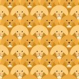 Картина рыжих котов безшовная бесплатная иллюстрация