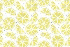 Картина свежего лимона безшовная бесплатная иллюстрация
