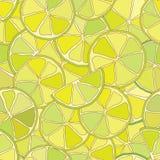 Картина свежего цитруса известки безшовная Стоковое Изображение