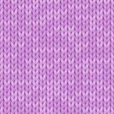 Картина светло-фиолетовой реалистической простой текстуры knit безшовная связанная картина безшовная Шерстяная ткань Иллюстрация  иллюстрация вектора