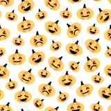 Картина светлой плоской тыквы хеллоуина безшовная Стоковая Фотография RF