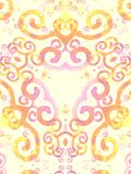 Картина свирлей золота розовая Artsy стоковая фотография rf