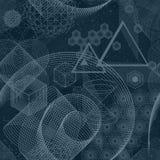 Картина священных символов геометрии безшовная Стоковая Фотография RF