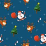 Картина Северный олень весёлого ` s Санта Клауса, Санты, и петух бесплатная иллюстрация