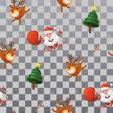 Картина Северный олень весёлого ` s Санта Клауса, Санты, и петух иллюстрация штока