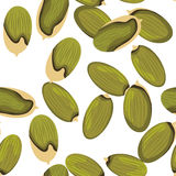 Картина семян тыквы безшовная Стоковое Изображение