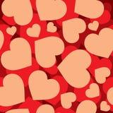 Картина сердец безшовная Стоковые Изображения RF