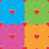 Картина сердец безшовная иллюстрация вектора