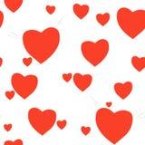 Картина сердец влюбленности безшовная Предпосылка романтична Стоковые Фотографии RF