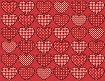 Картина сердец лоскутного одеяла безшовная. Стоковое Изображение