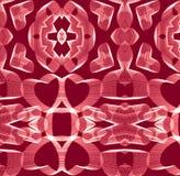 Картина сердец на красной предпосылке на день валентинок, день ` s матери вектор Стоковое Изображение RF