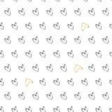 Картина сердца золота безшовная на белой предпосылке Стоковая Фотография