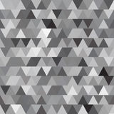 Картина серого вектора безшовная с треугольниками абстрактная предпосылка Стоковое фото RF
