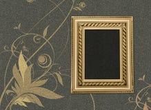 картина серого цвета рамки цветка предпосылки Стоковая Фотография