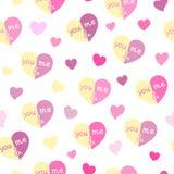 Картина сердец безшовная вы & я Стоковая Фотография RF