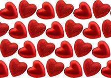 Картина сердец безшовная Стоковое Изображение RF
