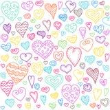 Картина сердец влюбленности безшовная Стоковое Изображение