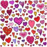 Картина сердец влюбленности безшовная Стоковые Фотографии RF