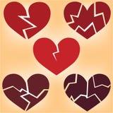 Картина сердец на желтой предпосылке Стоковое фото RF