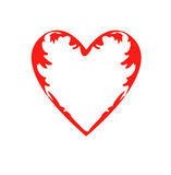 Картина сердец, символ чертежа влюбленности, дня ` s валентинки Стоковое Изображение