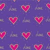 Картина сердец Ткань печати Сердце Стоковая Фотография