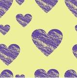 Картина сердец Ткань печати Сердце Стоковое Фото
