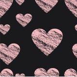 Картина сердец Ткань печати Сердце Стоковое фото RF