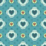 Картина сердец флористическая абстрактная безшовная Стоковое Изображение