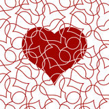 Картина сердца безшовная для карточки дня валентинок стоковая фотография rf