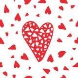 Картина сердца вектора безшовная Стоковое фото RF