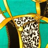 Картина сердца золота закрепленная петлей цепью. Для текстуры искусства или веб-дизайна a Иллюстрация вектора