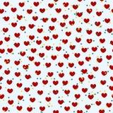 Картина сердца с звездами Безшовная предпосылка валентинки вектора Стоковые Изображения RF