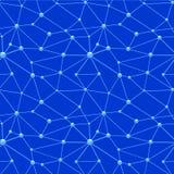 Картина сети нейронов безшовная Стоковое Изображение