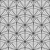 Картина сети паука дизайна безшовная monochrome. Пн иллюстрация вектора