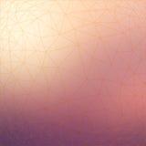 Картина сети триангулярного низкого поли стиля геометрическая на запачканной предпосылке Стоковые Фото