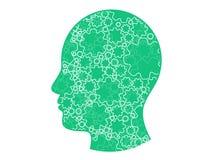 Картина сети шестерни головная геометрическая абстрактная предпосылка Шаблон иллюстрации векторной графики Стоковое Изображение