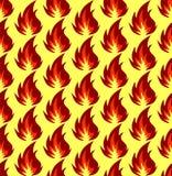 Картина символов огня безшовная также вектор иллюстрации притяжки corel Стоковое Изображение