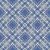Картина сини кобальта простая линейная геометрическая Стоковое Изображение RF