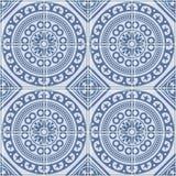 Картина сини плитки Azulejo безшовная португальская вектор Стоковое фото RF
