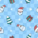 Картина сини рождества шаржа иллюстрация вектора