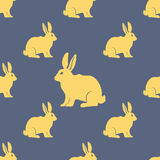 Картина силуэта зайцев или кролика безшовная вектор Стоковые Изображения