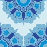 Картина силуэта 7 орнаментальная цветков углов Стоковое Изображение