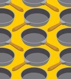 Картина сковороды безшовная Фрай dishes предпосылка Orna кухни Стоковые Изображения RF