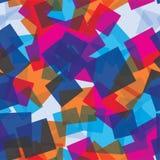 Картина случайных квадратов безшовная абстрактная предпосылка Квадраты перекрытые на одине другого геометрическо Напечатайте ткан иллюстрация штока