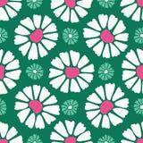 Картина смелого цветеня цветка маргаритки безшовная Стилизованное ретро флористическое 50s на всем печать иллюстрация вектора