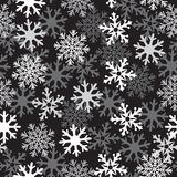 Картина снега черная Стоковые Фото