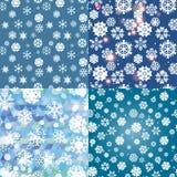 Картина снежинки безшовный вектор текстуры Новый Год принципиальной схемы рождества Стоковые Изображения RF